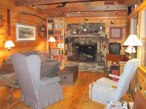 Log Home on Protected Private Cove Maine Real Estate Listing Deer Isle Maine